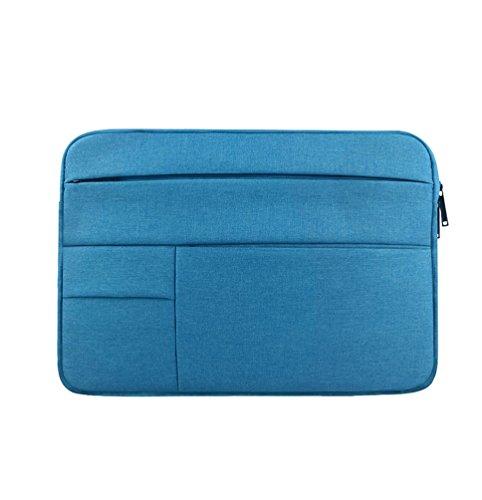 Yuncai Notebooktasche 11.6-15.6 Zoll Multifunktional Wasserdicht Stoßfest Laptop Handtasche Für Macbook Himmelblau 15.6Inch