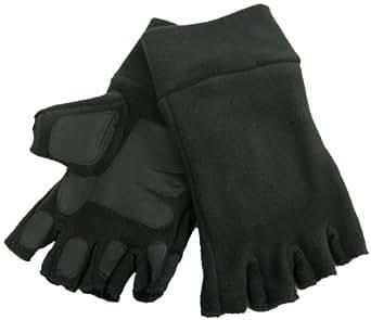 Mitaines très chaudes en laine et Thinsulate avec paumes et doigts antidérapants Noir Taille unique, pour adulte