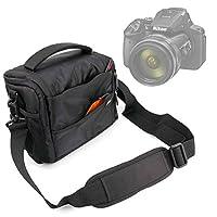 DURAGADGET Shock-Absorbing & Water-Resistant Carry Bag in Black & Orange - Suitable for the Nikon Coolpix P900 SLR Camera