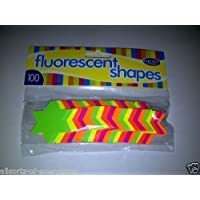 Fluorescent Neon Stars 42mm Pack of 100 for Sales Shops and Cars