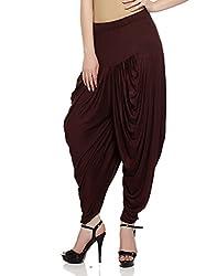 Sakhi Sang Womens Viscose Dhoti Salwar [SS0809_Free Size_Brown]