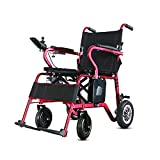 GYH Electric Wheelchair, Wheelchair for The Elderly, Four-Wheel Care Wheelchair, 100kg Load, Lithium Battery (#)
