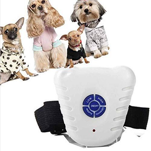 Hundebellen Kontrollkragen Ultraschall Shooting Technology Training Anti Bellen Hundehalsbänder EIN/AUS-Schalter Taste für kleine Hunde