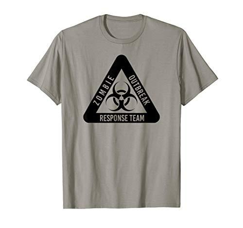 Zombie-Ausbruchsreaktion Lustige Biogefahr in Schwarz T-Shirt (Zombie Response Kostüm)