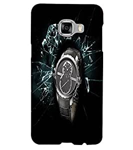 PrintVisa Modern Art Watch 3D Hard Polycarbonate Designer Back Case Cover for Samsung C5