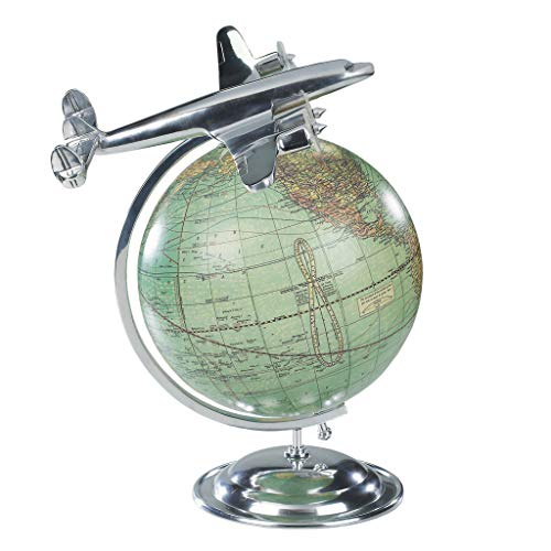 Authentic Models AP108 - Globus mit Flugzeug Lockeed L-1049 26,5 x 22 x 31 cm