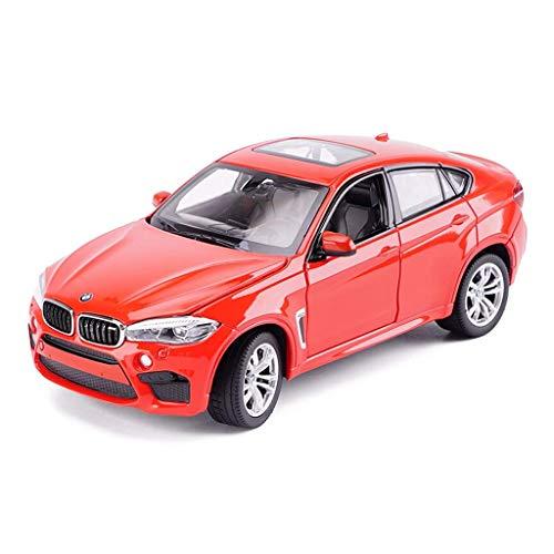 1yess Auto-Modell Auto 01.24 X6M Simulation Legierung Druckguss-Spielzeug Ornamente Sports Car Collection Schmuck 20x9x7.2CM (Farbe: Schwarz) (Color : Red)