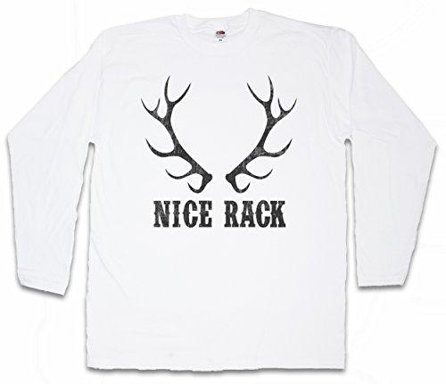 Urban Backwoods Nice Rack Langarm Long Sleeve T-Shirt - Größen S - 2XL (Shirts Redneck Hunting)