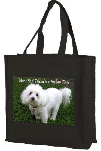 bichon-frise-cotton-tote-shopping-bag-mbf-black