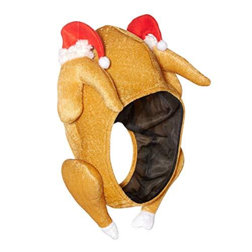 Toyvian Volles Gesicht Truthahn Hut Mütze Hähnchen Hut Hühner Hut Türkei Hut Thanksgiving Halloween Weihnachten Kostüm ()