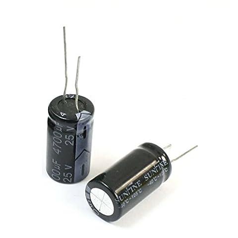 TOOGOO(R) 6 Pcs 4700uF/25V Radial Leads Aluminum Electrolytic