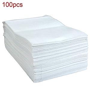 Sweet48 Einweg-Massage-Bettlaken, Vlies, ölabweisend, wasserfest, für Massageliege, Massagetisch, 100 Stück, Wie abgebildet, 80 x 180cm