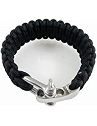 Vococal Regolabile Paracord Parachute Cord sopravvivenza bracciale braccialetto con fibbia in acciaio
