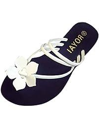 Scarpe della Boemia delle donne piatte Vovotrade Elasticit�� per il tempo libero Lady sandali peep-toe scarpe da esterno (36, Marrone)