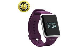 MevoFit Echo Ultra Fitness Watch Smart Watches for Men and Women Activity Tracker, Heart Rate, Blood Pressure (Purple)