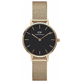[Daniel Wellington] Daniel Wellington Reloj Ladies Classic Pettitte Melrose Negro Oro Rosa 28mm dw00100217[Regular importados]
