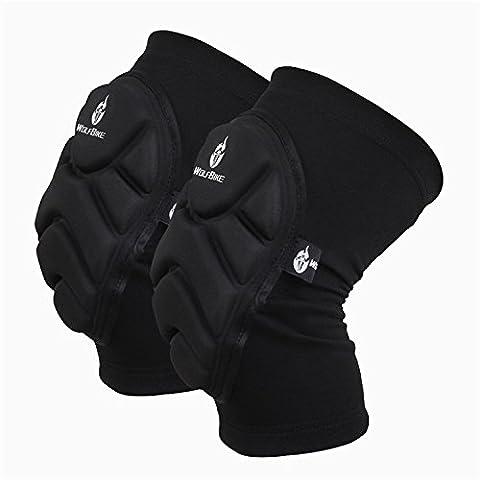 UWILD ® 2 Stück Sport Elastische Kniestütze Sport Knieschoner Kniebandage Knieorthese Knieschützer (2 pcs) -Knieprotektor beim Laufen Jogging Fitness (XL)