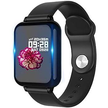Smartwatch, PHIPUDS Reloj Inteligente Impermeable IP67 con Pulsómetro, Cronómetro, Monitor de sueño,Podómetro,Calendario, Pulsera Actividad para ...