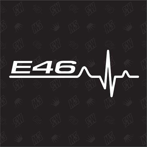 speedwerk-motorwear E46 Herzschlag - Sticker für BMW, Tuning Fan Aufkleber