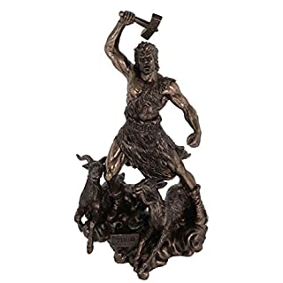 Bronze-Plated Figure Thor God of Thunder Son of Odin
