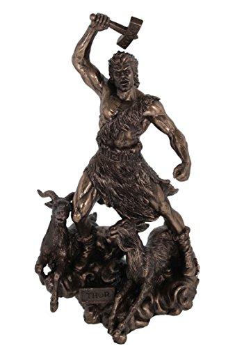 Thor Gott des Donners Odin s Sohn bronziert Figur
