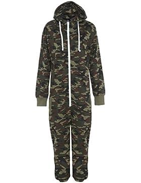 Para hombre Aztec Plain Onesie Full Camouflage Print Zip Up con capucha todo en uno diseño de camuflaje Jumpsuit...
