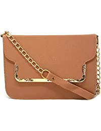 TYPIFY® Leatherette PU Cross Body Chain Sling Bag For Women And Girls College Office Handbag/Chained Sling Belt...