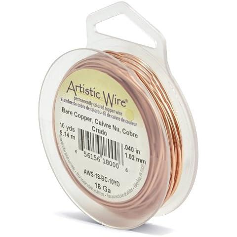 Beadalon Artistic Wire - Alambre para manualidades (calibre 18, 9 m), color dorado