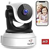 Victure Cámara de Vigilancia HD,720P Cámara IP WiFi con Detección de Movimiento,Visión Nocturna,Audio de 2 Vías, 2.4GHz WiFi, Compatible con iOS/Android