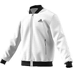 Adidas Escouade Chaqueta Impermeable Para Hombre Color Blanco Talla M