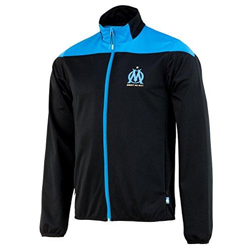Olympique Marseille Herren-Jacke mit Reißverschluss, offizielle Kollektion L schwarz