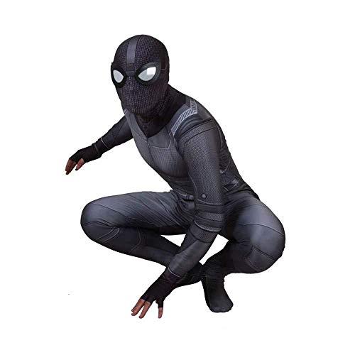 Schwarzes Spiderman Kostüm Film Invisible Suit Rollenspiel Kinder Körperstrumpfhosen Kostüme,Child-XL (Invisible Mann Kinder Kostüm)