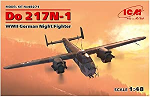 ICM 48271 Do 217N-1,WWII - Maqueta de avión German Night Fighter (100% moldes Gris