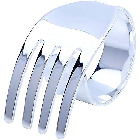 Spirale creativa ferro forchetta portatovagliolo/ Western fibbia/ tovagliolo/[portatovaglioli]-B