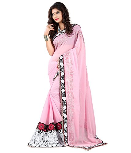 Yuvati Sarees Net Saree (9220_Pink)