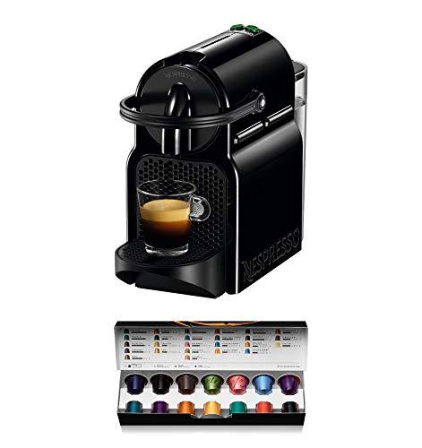 Nespresso De'Longhi Inissia EN80.B - Cafetera monodosis de cápsulas Nespresso, 19 bares, apagado automático, color negro