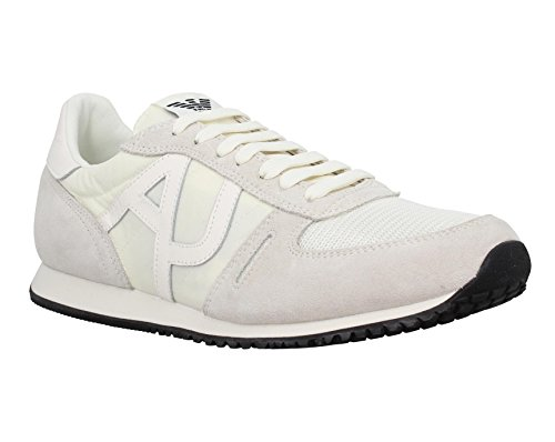 Armani Jeans 6524 Run Baskets Basses Neuf Chauss. Blanc