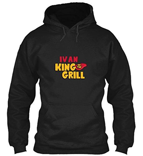 teespring Men's Novelty Slogan Hoodie - Ivan King of The Grill