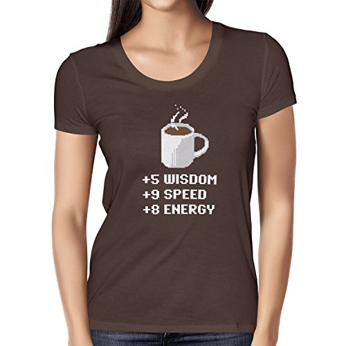 TEXLAB - Wisdom Speed Energy - Damen T-Shirt, Größe S, braun