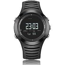 Spovan SPV807 5 ATM reloj de pesca resistente a los choques, medición de temperatura,