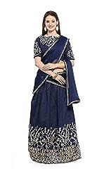 Clickedia Womens Net Lehenga Choli (Prachi - Blue lehenga_Free Size_Blue)