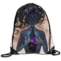HLKPE Afro African Woman Girl Art Drawstring Backpack Bag Beam Mouth Gym Sack Shoulder Bags For