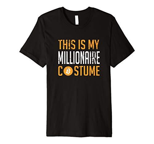 This Is My Millionär Bitcoin Kostüm Halloween T-Shirt