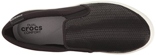Crocs Citilane Sequin Slip-on W Blk, Mocassini Donna Nero (Black)
