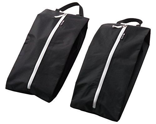 he 2er Set, wasserdichter Kleidersack für Schuhe, einsetzbar als Koffer Organizer, Kleidertasche oder Packbeutel, schwarz ()