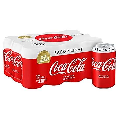 Coca Cola Light Refresco con gas de cola 330 ml Pack de 12 Lata