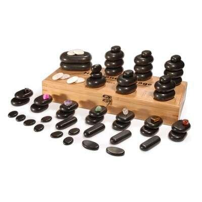 64piece hot set di pietre basaltiche per massaggio relax terapia