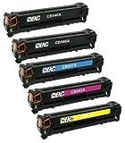 Kit 5 INK INSPIRATION® Toner Compatibili per HP Colour Laserjet CM1312 CP1210 CP1213 CP1214 CP1215 CP1216 CP1217 CP1500 CP1510 CP1513 CP1514 CP1515 CP1516 CP1517 CP1518 CP1519 Canon I-SENSYS LBP-5050N LBP-8030CN LBP-8050 LBP-8050CN MF-8030CN MF-8040CN MF-8050CN MF-8080CW | Sostituzione per HP 125A (CB540A, CB541A, CB542A, CB543A) & Canon CRG-716 | Nero: 2.200 Pagine & Ciano/Magenta/Giallo: 1.400 Pagine