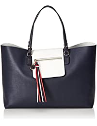 Tommy Hilfiger - Love Reversible Tote, Bolsos totes Mujer, Blau (Tommy Navy), 13x31x46 cm (W x H D)