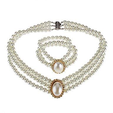 perla ovale della collana del braccialetto
